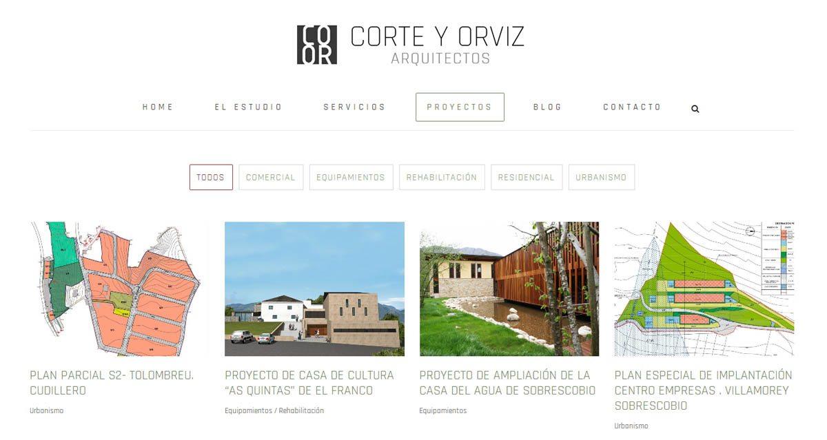 diseño web en Asturias: corte y orviz, web diseñada por PRISMA ID