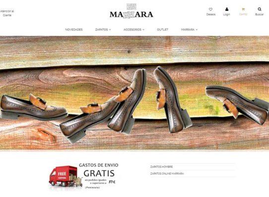 diseño de tienda online en Gijón: Marrara, zapatería de alta gama