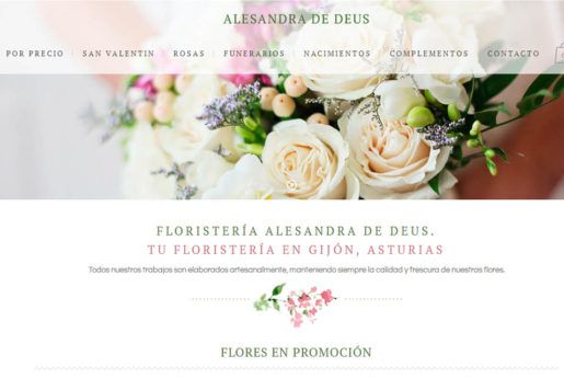 Diseño de página web en gijón tu floristería en gijón