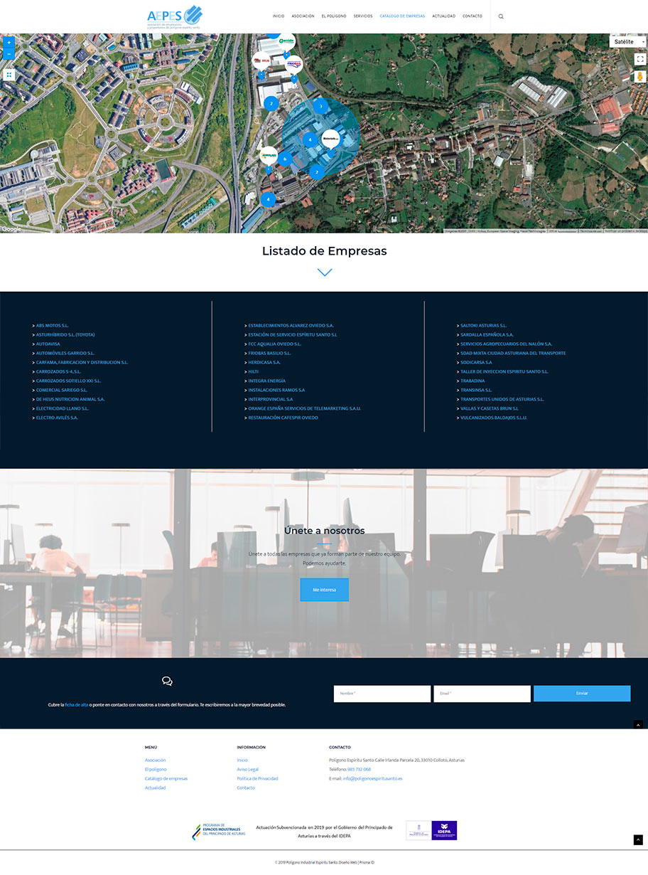 Página web aepes